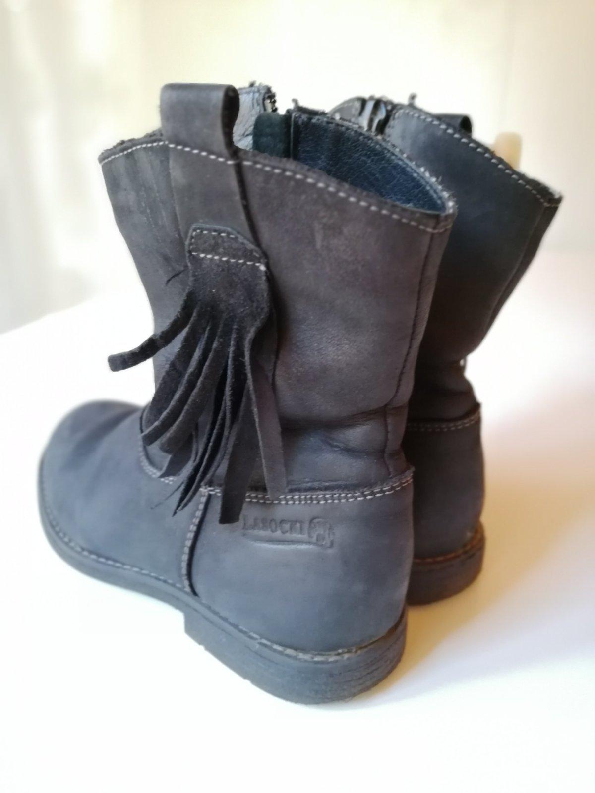 Čierne kožené čižmy lasocki číslo 31 5bff6c00007