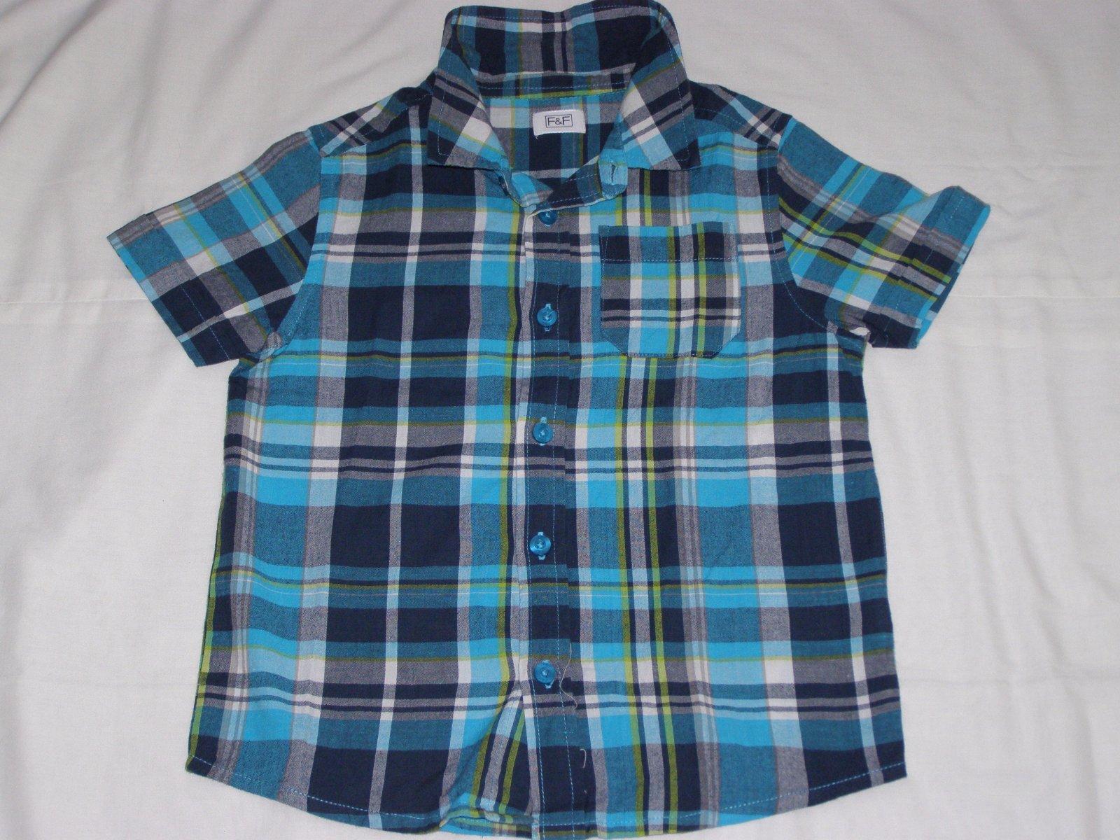 f38a5a5adecc Chlapčenská károvaná košeľa modro-tyrkysovo žltá