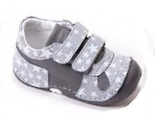 7890de3c9010 Barefoot celokožená obuv bebebia - grey star