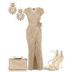 25b2bd6415 Aké topánky a doplnky ku zlatým šatám  - Modrý koník