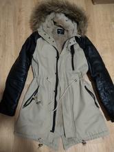 Zimná bunda s kožušinou, fishbone,xs