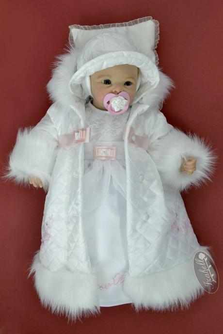 Komplet do krstu pre dievčatko snehulienka 90391e5e24d