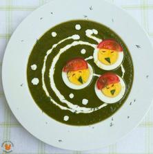 1r.+ Špenátovo-kedlubnová polévka