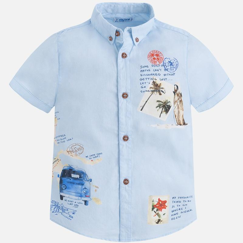 Mayoral chlapčenská košeľa 3156-064 lightblue b44b4699b68