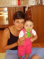Ja, maminka a moja žabka:-)