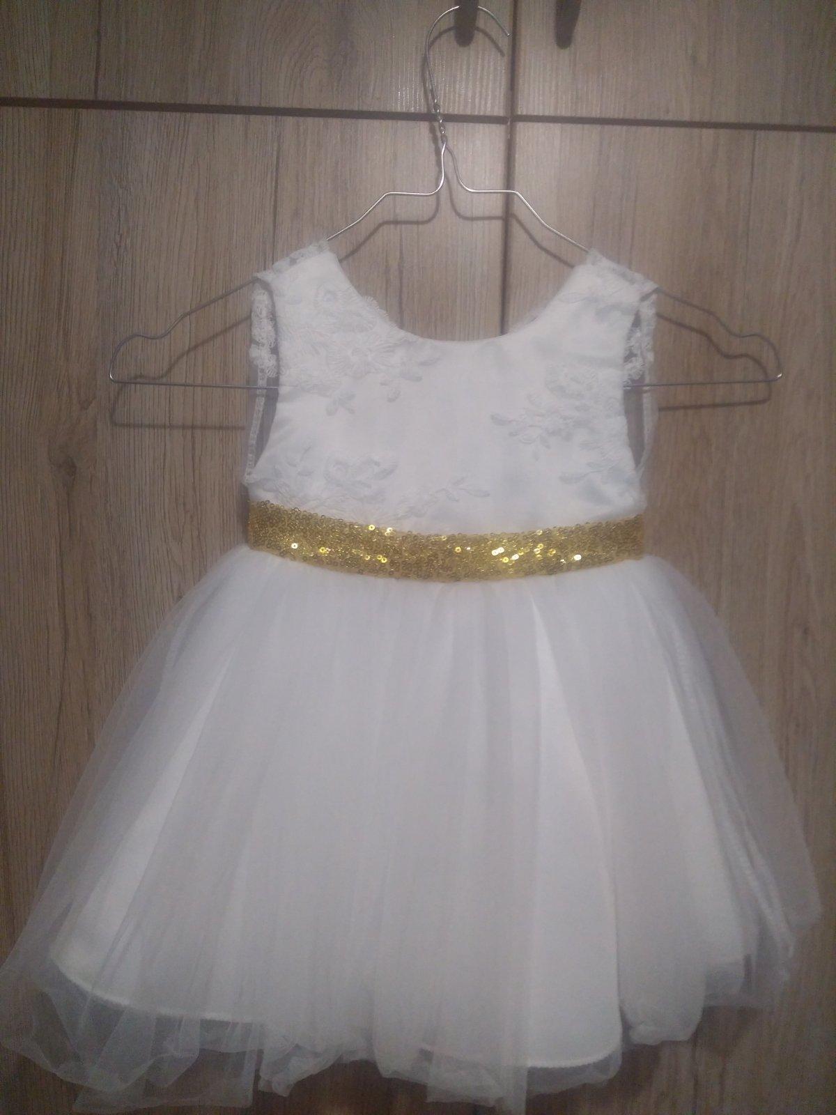 15dd08d65929 Biele detské spoločenské šaty
