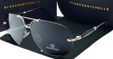 Pánske slnečné okuliare bm aviator silver/gray,
