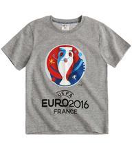 Uefa euro 2016 tričko s krátkym rukávom šedá, 104 / 116 / 128 / 140