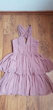 Ružové mini šaty, h&m,38