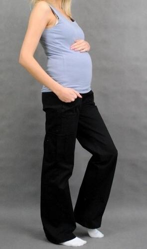 bca1bd6f64 Tehotenské nohavice s bočným vreckom - čierne