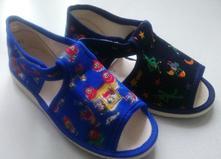 Sandálkové papučky - 3 typy zapínania č.27-33 , s´botex,27 - 33