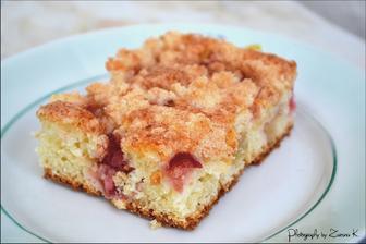 Rebarborový koláč s posýpkou ♥
