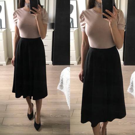 df5e0f8ee4c6 Čierna áčková sukňa