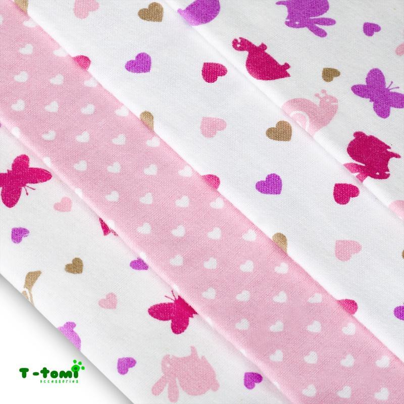 c41f3b0cced05 Bavlnené plienky s flanel. úpravou ružové slimáky, t-tomi - 12,30 ...