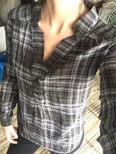 """Kockovaná """"oversize"""" košeľa, terranova,s"""