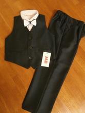 Chlapčenský elegantný oblek veľ 134 - tmavomodrý 2, 134