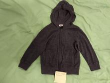 Merino sveter  na zips v. 98/104, h&m,104