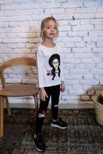 Dievčenské tričko s bábikou mm 396 passion, 92 / 98 / 116 / 122