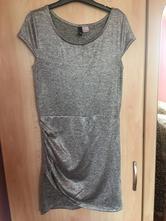 Strieborné šaty, h&m,s