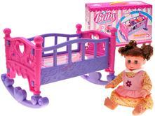 Detská kolíska s bábikou,