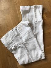 Biele ľanové nohavice, xs, amisu,xs