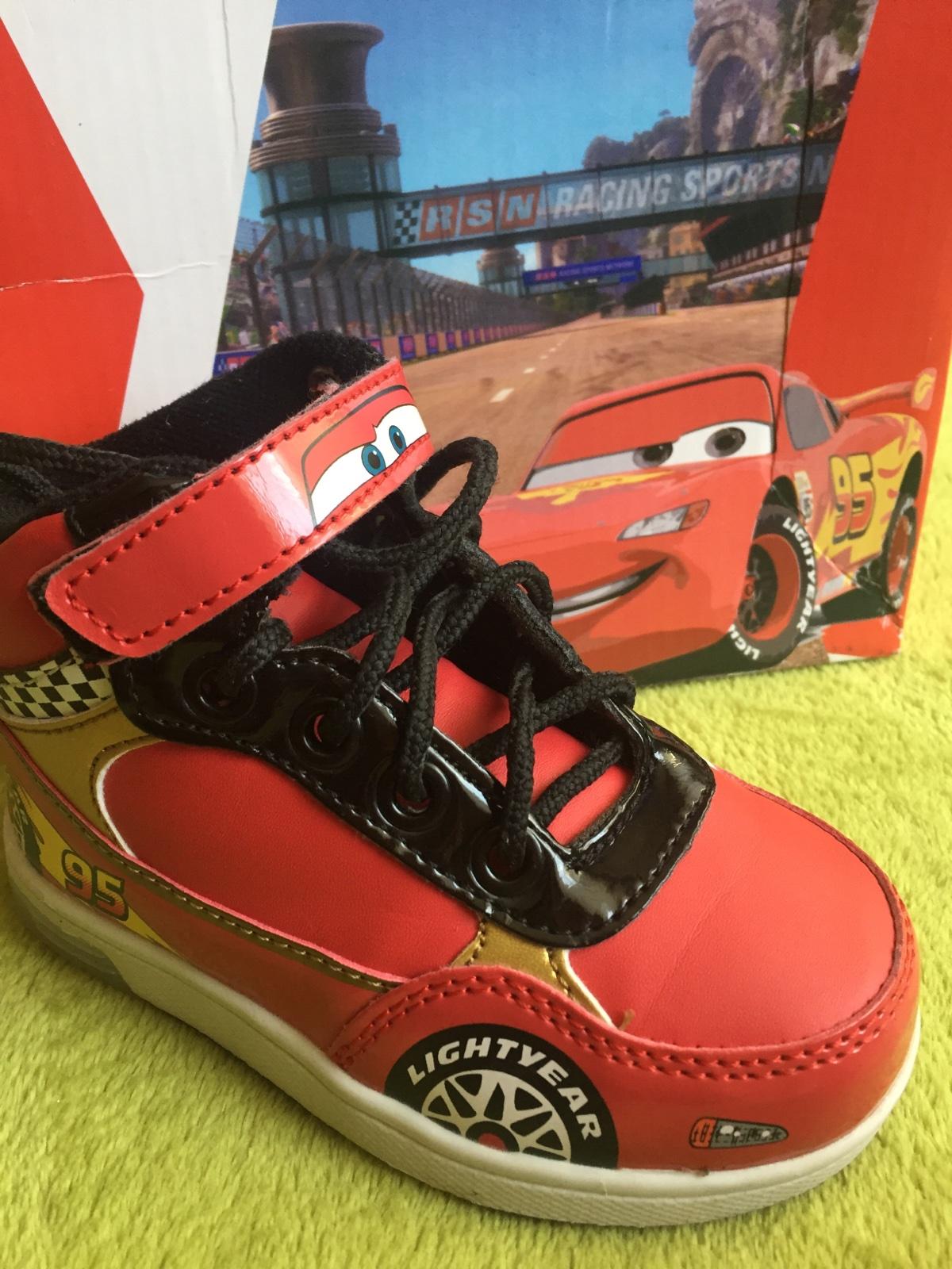 Blikajúce topánky cars 5a3c4d767c0