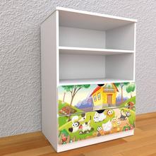 Detská knižnica 110cm - farma,