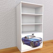 Detská knižnica 145cm - auto,