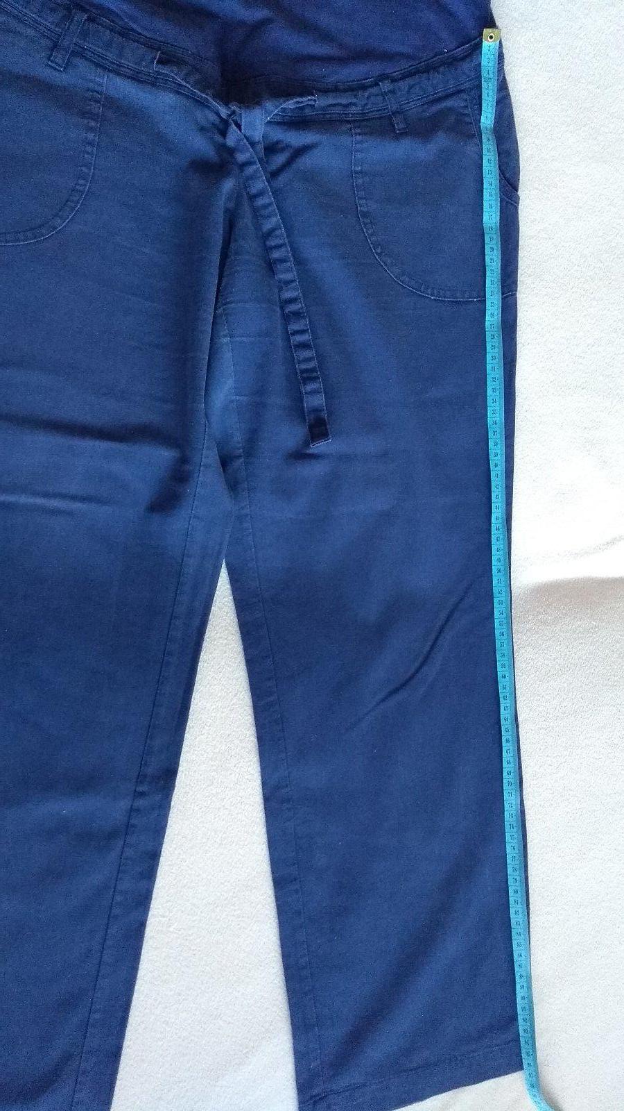 374ea27cc7e3 Modré ľanové tehu nohavice bonprix