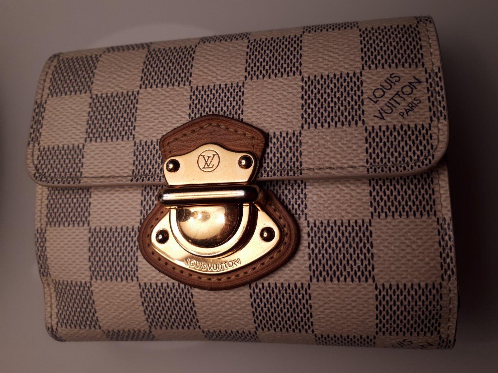 Lv peňaženka original damier azur wallet joey 68f5ce76de2