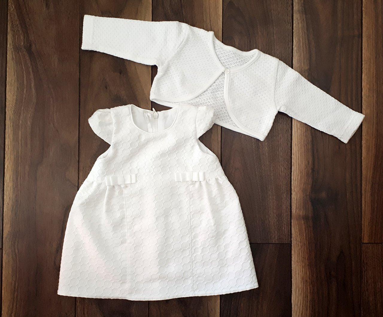 Príležitostné biele šaty s bolerkom f27d25cf2a3