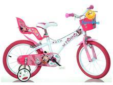 """Detský bicykel - 16"""" dino 616nn minnie so sedačkou,"""