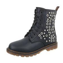 Dámske čižmy - topánky s vybíjaním - čierne 8b13ede6020