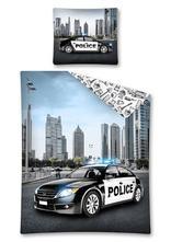 Skladom posteľné obliečky policajné auto, 140,200
