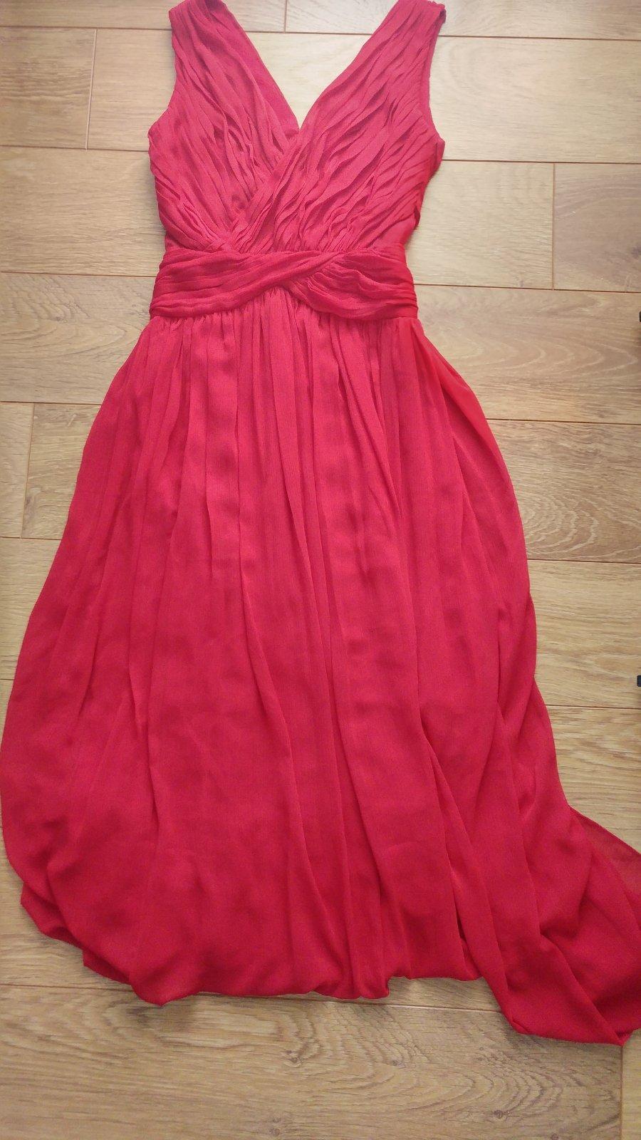 beaf1394cb58 Dlhé spoločenské šaty mango - červené