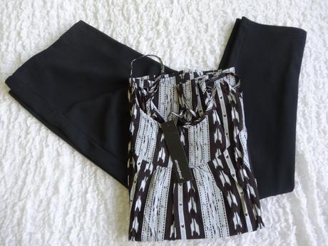 Tehotenské nohavice + top na tričko, veľ. s, s