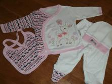 Novorodenecká súprava - srnka - ružová veľ 56   , 56