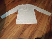 Biele tričko s dlhým rukávom - nátelník, h&m,128