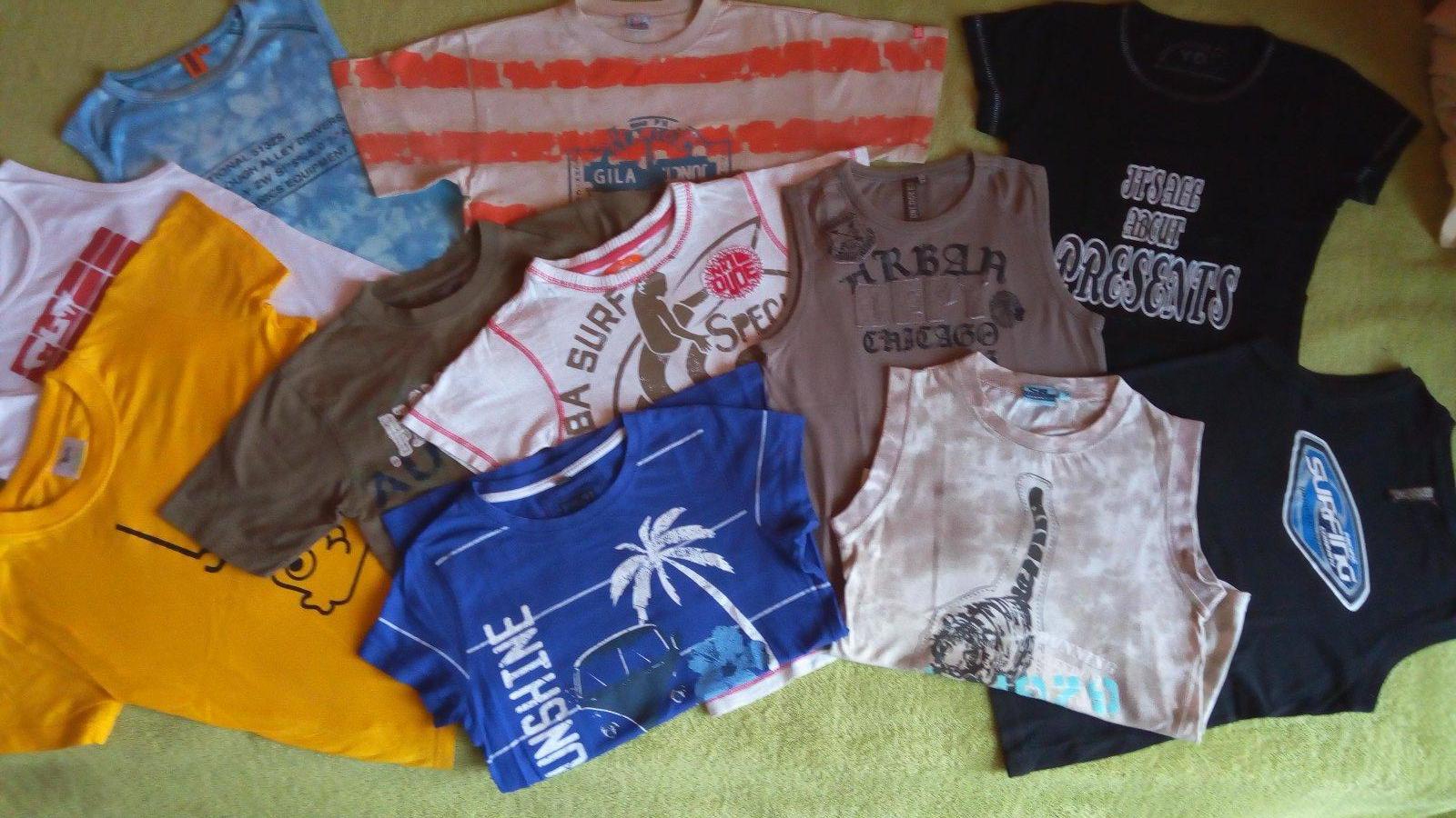 7d429313f589 11 ks chlapčenské tričká bavlnené 122-158