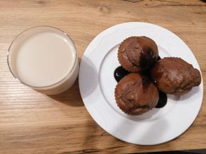 Proteinove muffiny a lieskovo-orieskove mlieko