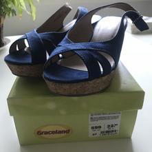 Sandalky na nízkej platforme - nové, deichmann,37