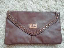 Hnedá listová kabelka,