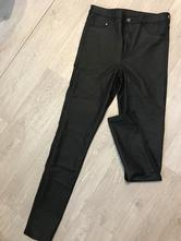 Kožené nohavice, h&m,42