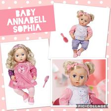 Baby Annabell Sophia je dalsou z nasich oblubenych babik. Ma latkove telicko, hlavicka, ruky a nohy su gumene.