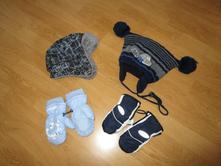 Čiapky a rukavičky na zimu 12-24 mes.,