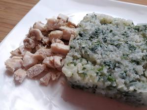 Kuracie a karfiolovo-spenatova ryza