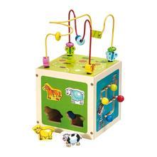 Drevená edukačná hračka baby mix kostka labyrint,