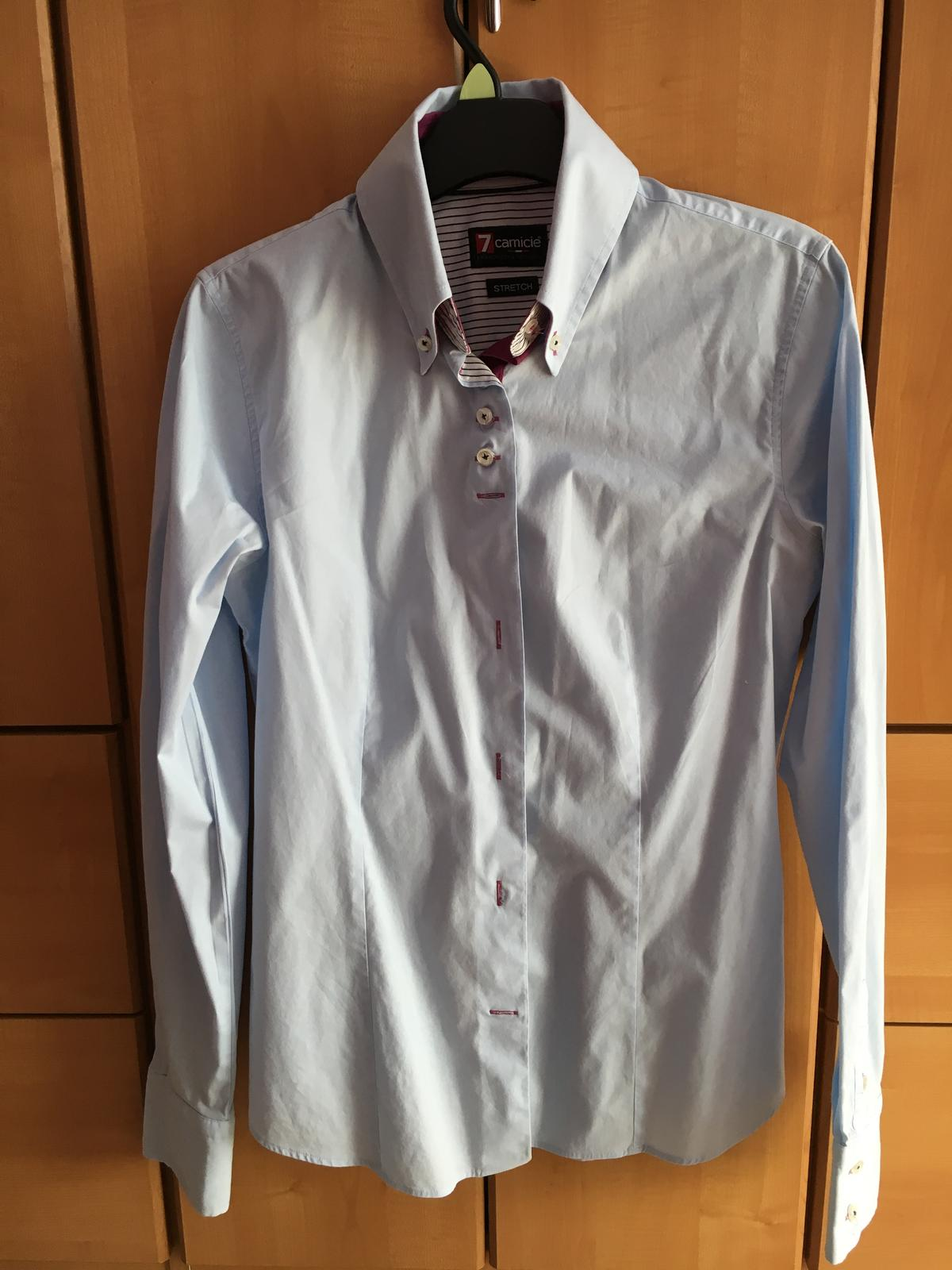41af39f97b85 Dámska košeľa talianska modrá