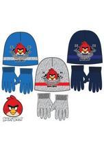 Čiapka a rukavice angry birds modrá,šedá,tmavmodrá, disney,116 / 134