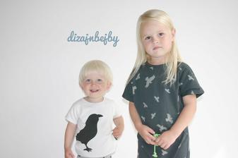 7a5b9af10ecc Posledný kus tričenko s vtáčikom -33% zľava organická bavlna ...